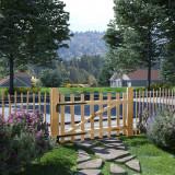 VidaXL Poartă simplă pentru gard, lemn de alun, 100 x 60 cm