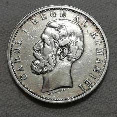 5 lei 1901 , Carol I - Argint