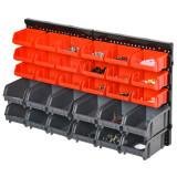 DURHAND Suport container pentru scule cu 30 de cutii reglabile si detasabile montabil pe perete