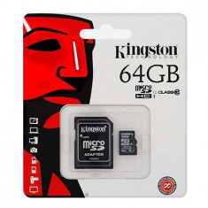 Micro sd card 64gb class 10 adaptor kingston foto