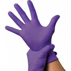 Manusi examinare nitril, nepudrate, dimensiuni S, M, L, Violet