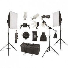 Kit Studio Foto/Video, FST. Lampa 5 socluri, Softbox, Difuzor, Stativ, Geanta