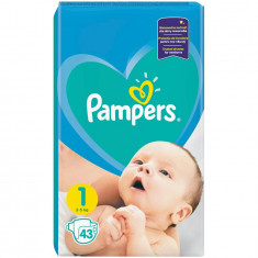Scutece Pampers New Baby 1 Mini, 43 bucati