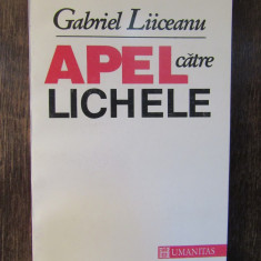 APEL CATRE LICHELE-GABRIEL LIICEANU(DEDICATIE , AUTOGRAF )
