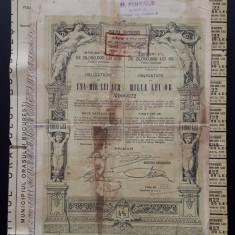 Titlu Una mie - 1000 lei Aur - Orasul Bucuresci - Actiuni - Actie