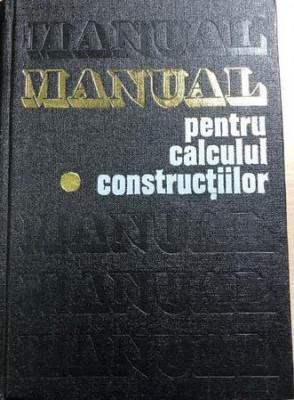 Manual pentru calculul constructiilor  An drei D. Caracostea  vol. 1 foto