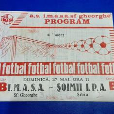 program       IMASA  SF. Gheorghe   -  Soimii IPA  Sibiu