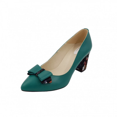 Pantofi dama, SandAli, stiletto, piele naturala, toc gros imbracat, funda,... foto