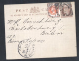 Great Britain 1896 Victorian Stationery London Squared Circles to Germany D.307
