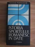 N. Postolache - Istoria sportului românesc în date