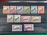 Timbre Ungaria 1918, serie cu supratipar KOZTARSASAG, Nestampilat
