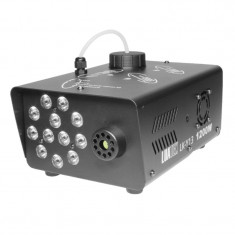 Masina de fum RGB Power, 1200 W, 12 x LED RGB, Negru
