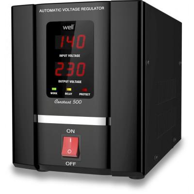 Stabilizator automat de tensiune Well, servo motor, 500 VA foto