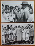Petru Groza in Parcul Stalin din Bucuresti cu ansamblul Capitalei ,1957 , 2 foto