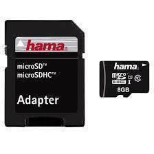 Card Hama Micro SDHC 8GB cu adaptor foto