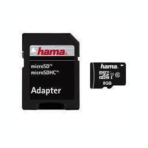 Card Hama Micro SDHC 8GB cu adaptor