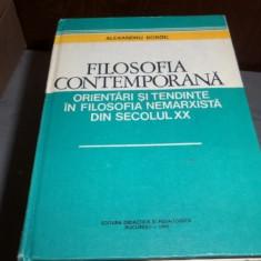 Filosofia contemporana, orientari si tendinte in filosofia nemarxista din secolul XX – Alexandru Boboc