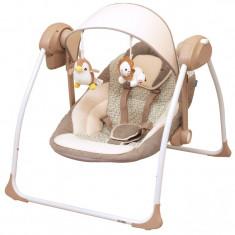 Leagan electric pentru bebelusi BabyMix BY012S-M, Maro
