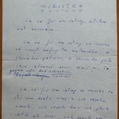 Manuscris olograf Geo Bogza , Miristea , 6 pagini