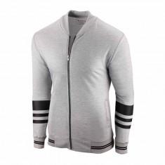 Bluza pentru barbati gri cu fermoar. slim fit Autumn Edition