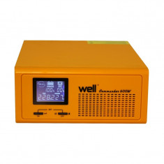 UPS centrale termice Commander, bypass, LCD, 230 V, 600 W, Well