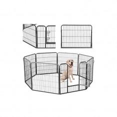 Tarc Metalic Pentru Animale Mici, 8 Panouri, 80 X 80cm/Panou