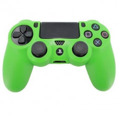 Pro Soft Silicone Protective Cover With Ribbed Handle Grip Green Ps4