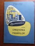 RECOMANDĂRI PRIVIND CREȘTEREA PASARILOR
