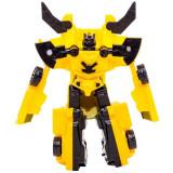 Robot de jucarie, model transformers, galben/negru, 10x2x12 cm