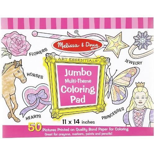 Caiet Jumbo cu Desene pentru Colorat Roz