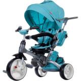 Cumpara ieftin Tricicleta cu sezut reversibil Sun Baby 007 Little Tiger - Melange Turquoise