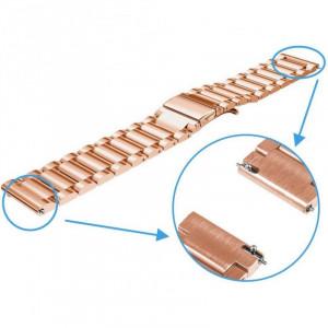 Curea metalica Smartwatch Samsung Gear S3, iUni 22 mm Otel Inoxidabil, Rose Gold