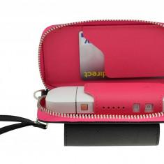 Husa din piele sintetica roz pentru IQOS | German Couture