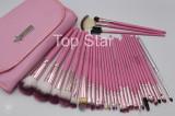 Set 31 pensule machiaj profesionale Fraulein Germany Pink + borseta