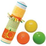 Set jucarii senzoriale tub + 3 mingi, , pentru dezvoltarea simturilor tactile si vizuale Ludi