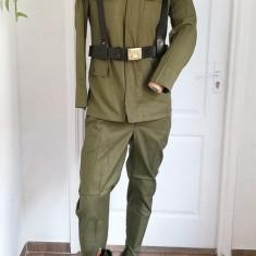 Uniforma Tinuta militara kaki vara RSR Comunista Caporal Grăniceri cu Cizme