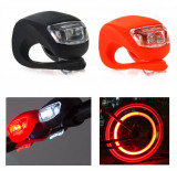 Set 2 lanterne silicon LED pentru bicicleta