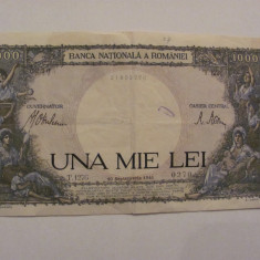 CY - 1000 lei UNA MIE LEI 1941 Romania / frumoasa