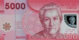 CHILE █ bancnota █ 5000 Pesos █ 2012 █  P-163c █ POLYMER █ UNC █ necirculata