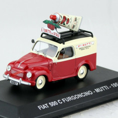 Macheta Fiat 500 C Furgoncino Transporter Mutti 1954 scara 1:43 IXO