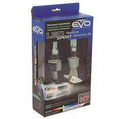 Bec LED H7 6000K, 12V/ 24V, set 2 buc, Kit conversie LED Sport EVO Performance Kft Auto, Sumex