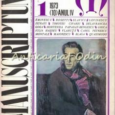 Manuscriptum. Revista Tremestriala - Nr.: 1/1973 (10), Anul IV
