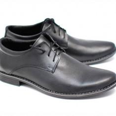 Pantofi negri barbati casual din piele naturala - EZELBOXNSIRET