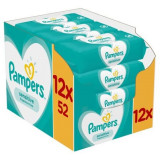 Servetele umede Pampers Sensitive, (12x52), 624 buc