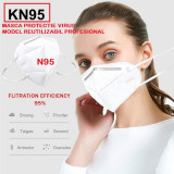 Masca protectie virus KN95 FFP2 N95 Protectie Cu 6 straturi, model profesional