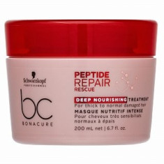 Schwarzkopf Professional BC Bonacure Peptide Repair Rescue Deep Nourishing Treatment masca pentru păr deteriorat 200 ml