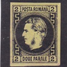 1866 LP 18 a CAROL I  CU FAVORITI  2  PARALE  NEGRU /GALBEN  POINCON L. PASCANU