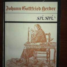 Scrisori- Johann Gottfried Herder