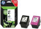 COMBO PACK CARTUS CERNEALA HP 62 N9J71AE BK+COLOR ORIGINAL