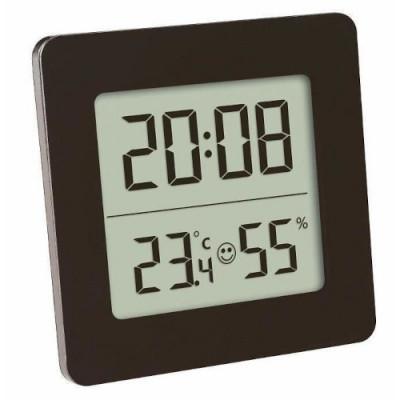 Termometru si Higrometru Digital cu Ceas si Alarma foto